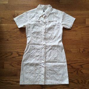 90s Plastic Rave Snap Button Dress.